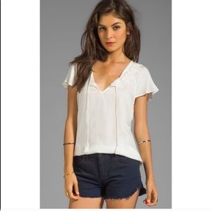 Soft Joie Sorel embroidery tee